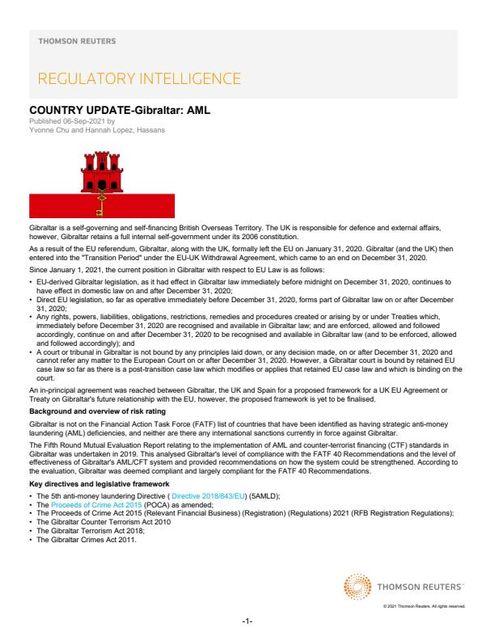 Gibraltar: an AML Update featured image
