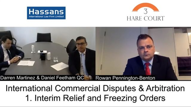 3 Hare Court Webinar on Interim Relief and Freezing Orders featuring Hassans featured image
