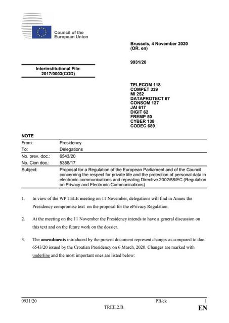 Council to discuss revised ePrivacy text featured image