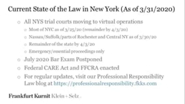 VIDEO:  Practicing Law in a Pandemic:  Remote Lawyering in the Age of COVID-19 (Part 2) featured image