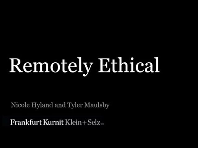 Watch Remotely Ethical: Law Firm Supervision During the Covid-19 Crisis featured image
