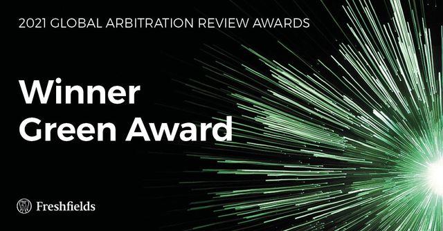 Freshfields wins inaugural GAR Green Arbitration Award featured image