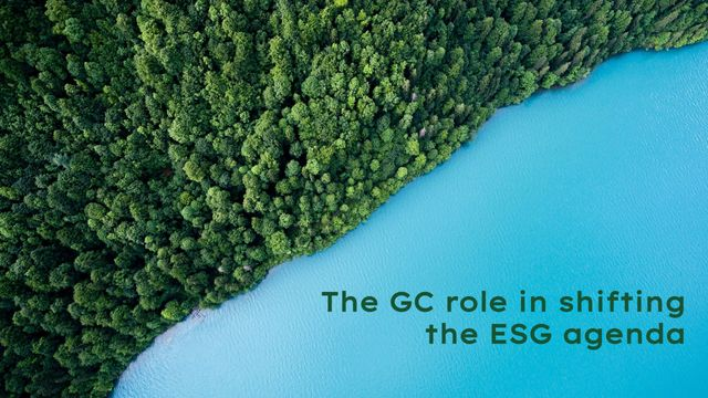 ESG: Part 2 - The GC role in shifting the ESG agenda featured image