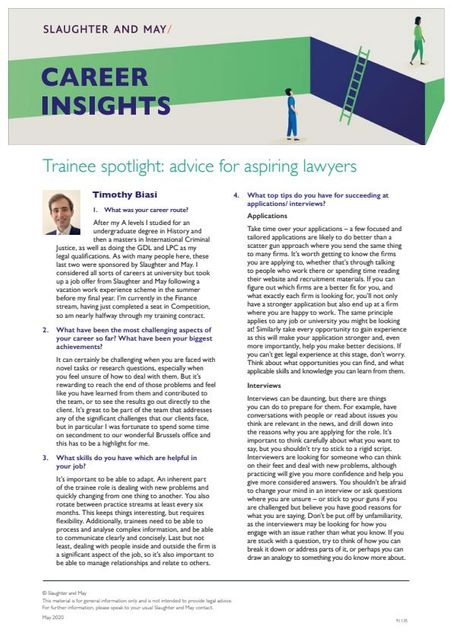 Trainee spotlight: advice for aspiring lawyers featured image