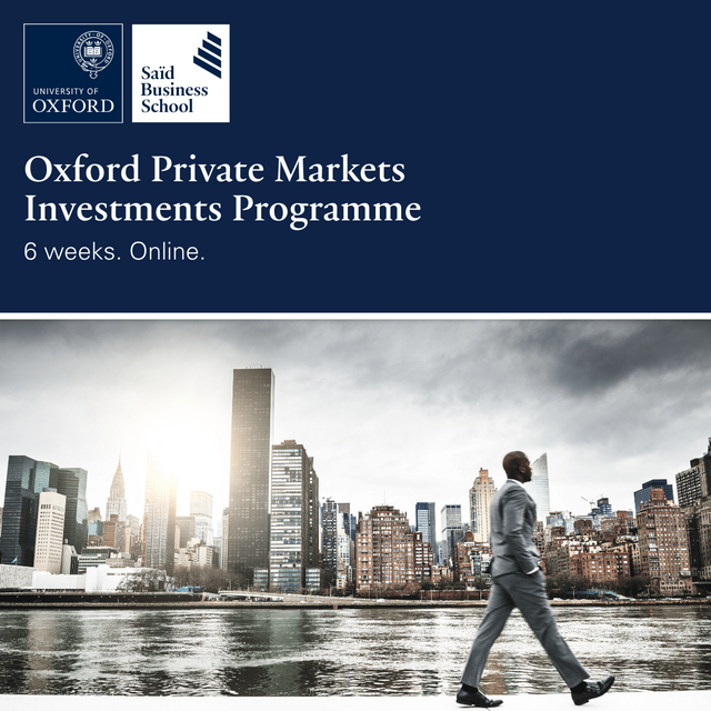 Oxford Private Markets Investments Programme, Said Business School, University of Oxford featured image