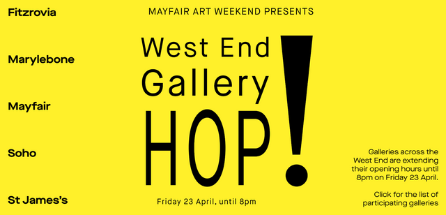 Galleries re-open to the public for the Mayfair Art Weekend West End Gallery HOP! featured image