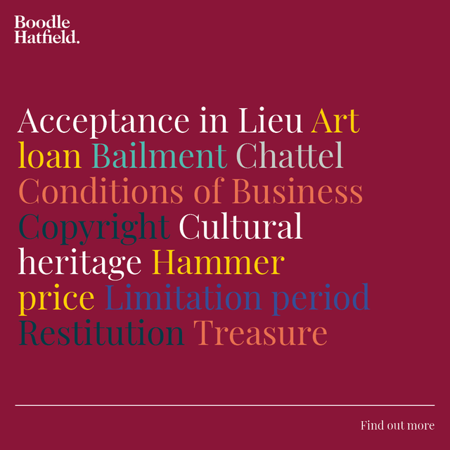 What does it mean? A guide to key terms in art law - Boodle Hatfield featured image
