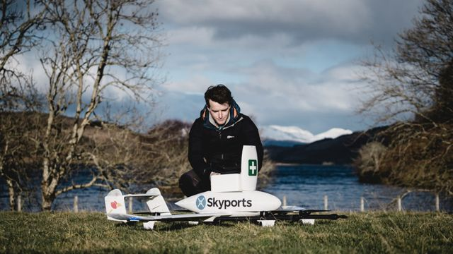 Drone delivery service launches in Scotland to deliver COVID-19 medical supplies featured image