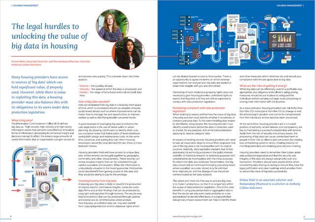 Housing Technology: The legal hurdles to unlocking the value of big data in housing featured image