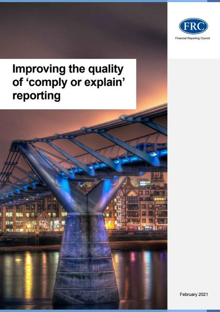 """New Guidance on Improving the Quality of """"Comply or Explain"""" Reporting featured image"""