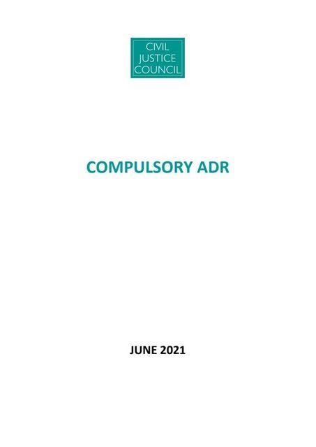 Compulsory ADR? featured image