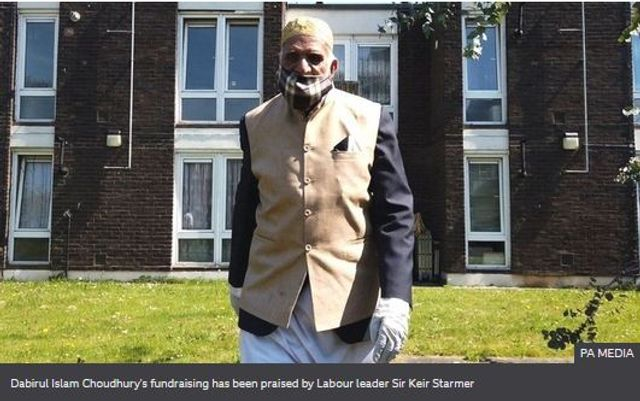 A 100-year-old London man has raised more than £150,000 for coronavirus relief by walking while fasting for Ramadan featured image