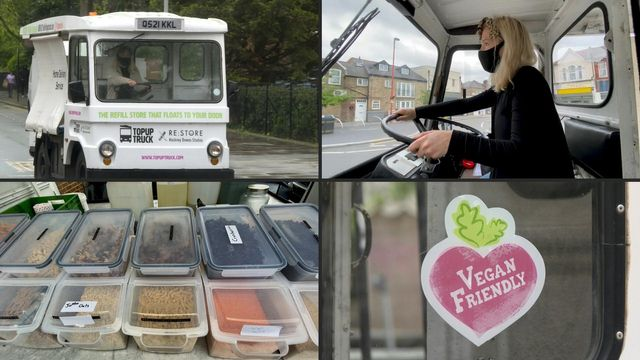 """In London, a grocery store on wheels for """"zero waste"""" shopping featured image"""