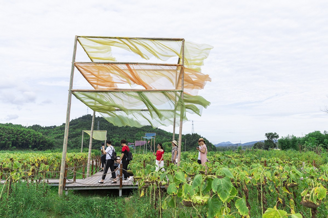 China Artists use recycled agricultural waste to decorate  village featured image