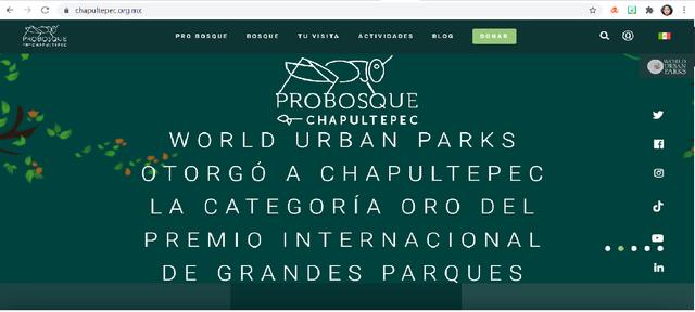 El Bosque de Chapultepec obtuvo el  International Large Urban Park Award en 2019 featured image