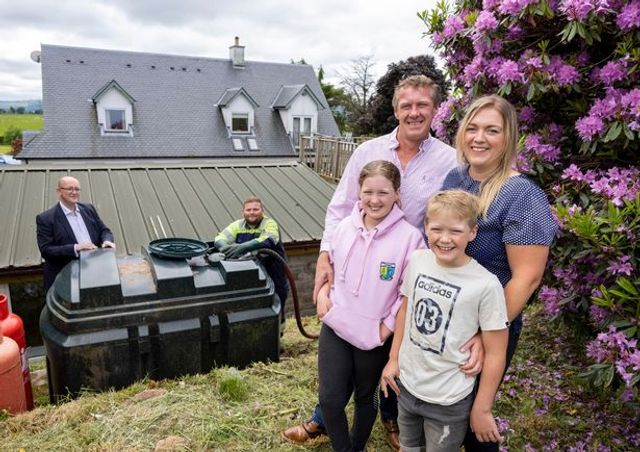 Vegetable oil heats eco friendly Stirlingshire family home featured image