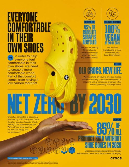 Crocs footwear to go vegan following the brand's huge sustainability plan featured image