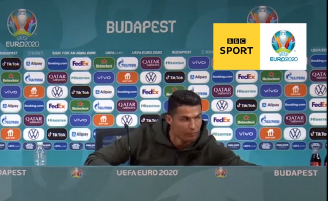 Ronaldo ditches Coca-Cola for water at Euro 2020 press conference featured image