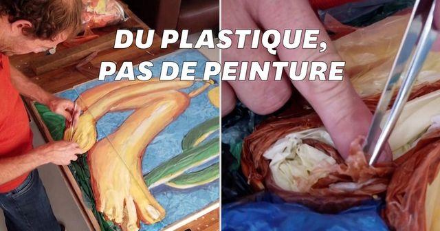 Pour créer ses tableaux, cet artiste brésilien utilise des sacs plastiques featured image