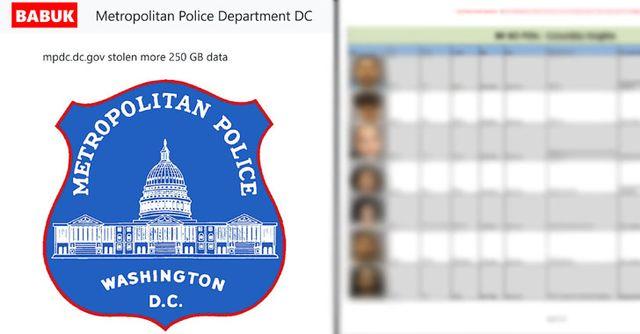 Babuk Locker gang targets DC Metro Police in ransomware attack featured image