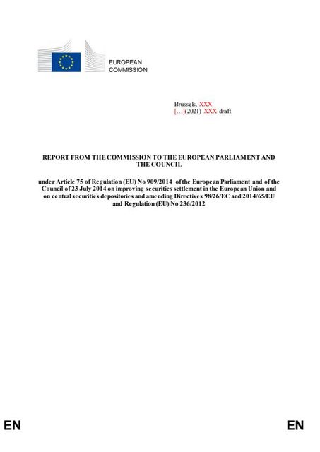 Settlement Discipline Regime: headlines from the European Commission Report on CSDR featured image