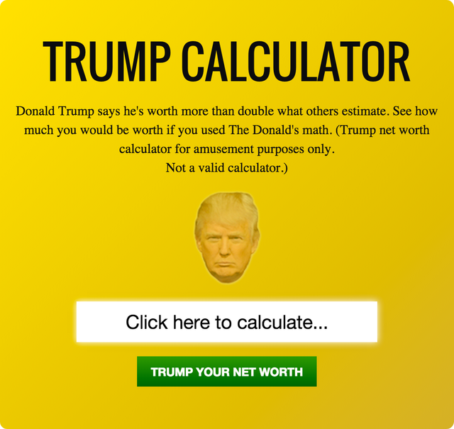 Hilarous: The Donald Trump Net Worth Calculator featured image