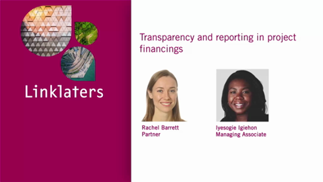 Transparency and reporting in project financings featured image