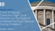 Ireland Update - Court of Appeal Overturns High Court Decision on Dismissal of Underperforming Employee During Probation