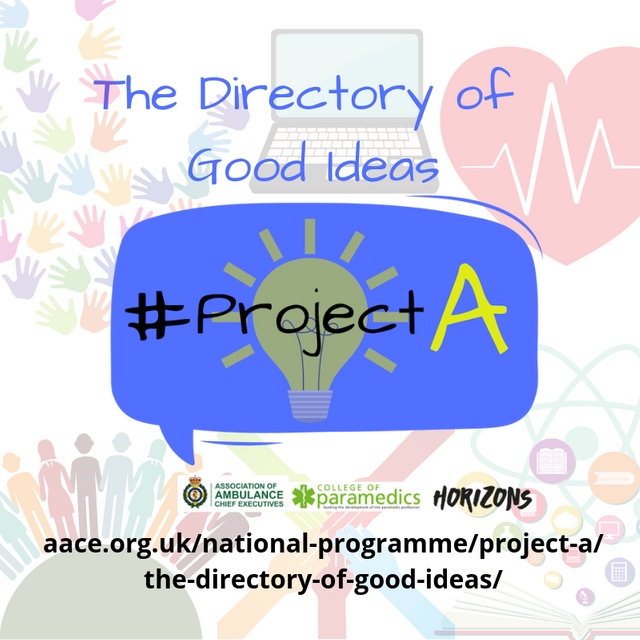 Celebrating Front Line Ambulance Staff with the #ProjectA Ideas Directory featured image