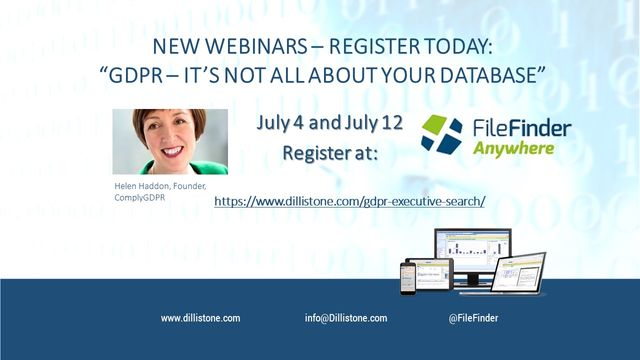 NEW WEBINARS: GDPR and Executive Search – it's not all about your database! featured image