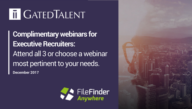 Complimentary Webinars for Executive Recruiters this December featured image