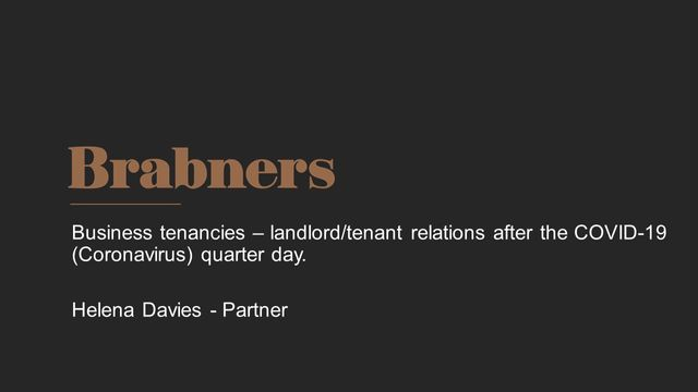 Business tenancies - landlord/tenant relations after the COVID-19 quarter day featured image