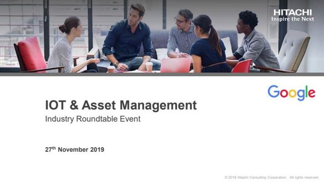 Hitachi and Google: IoT & Asset Management Event & Slides featured image