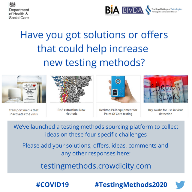 #TestingMethods2020 for #COVID19 response featured image