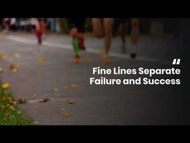 Fine lines separate failure and success. That line is often crossed at the end of the game. Which side will you be on at the end of the year? featured image