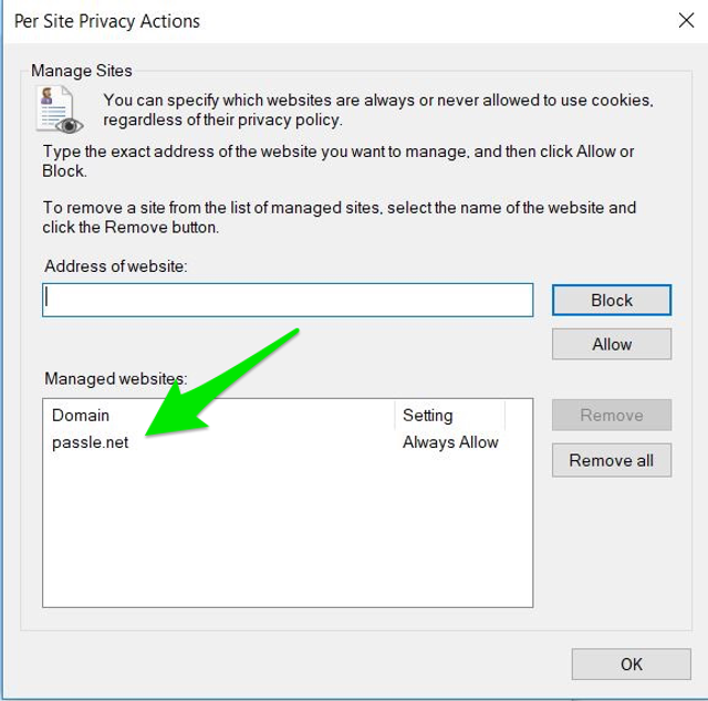 How to enable Passle from your cookie settings - Internet Explorer featured image
