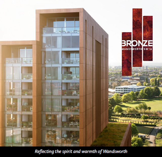 BRONZE - new residential development in Wandsworth, London featured image