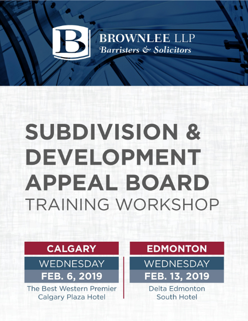Last Chance to Register! Subdivision and Development Appeal Board Training Offered in Calgary & Edmonton featured image