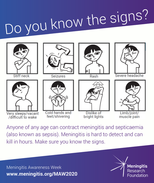 Meningitis Awareness Week 2020 - Meningitis has not gone away featured image