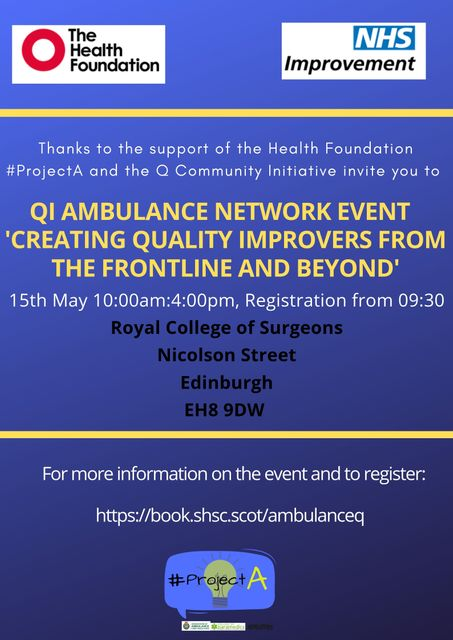 QI Ambulance Network Event- Creating Quality Improvers From The Frontline featured image