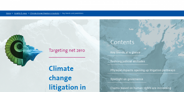 Climate change litigation in Australia: key trends and predictions featured image