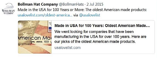 "Hat Company Settles With FTC Over ""Made in USA"" Claims featured image"