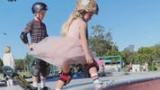 Little Lady is Showing 'Em How It's Done At The Skate Park