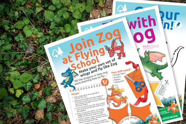 Forestry England's 10 ways to keep the kids entertained, including Zog, Gruffalo and Highway Rat activity sheets featured image