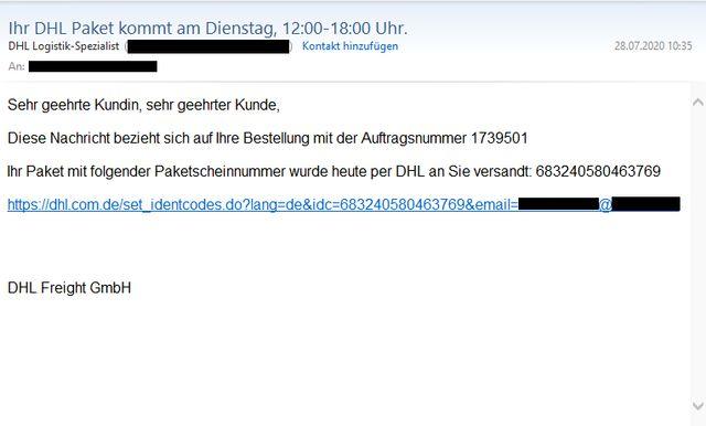 ACHTUNG: Betrügerische DHL-Benachrichtigungen per E-Mail mit Emotet-Schadsoftware featured image