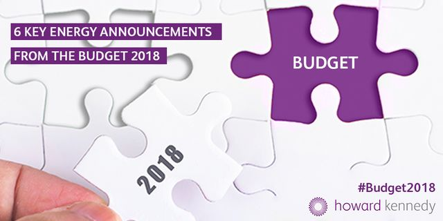 6 Key Energy Announcements from the Budget 2018 featured image