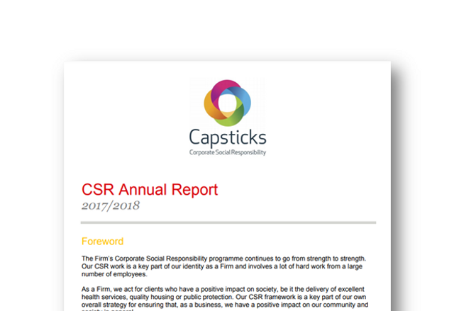 Capsticks CSR Report 2017-18 featured image