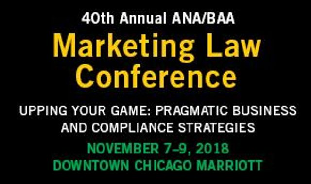 Come See Frankfurt Kurnit at the 2018 ANA/BAA Marketing Law Conference featured image