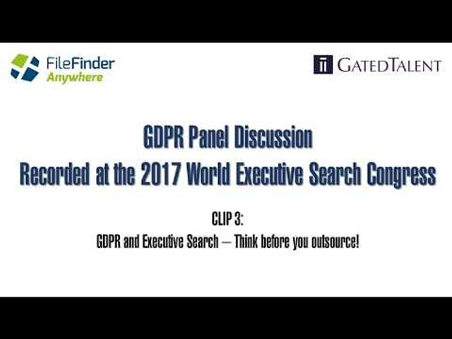 GDPR & Executive Search – What do your suppliers need to be doing? featured image