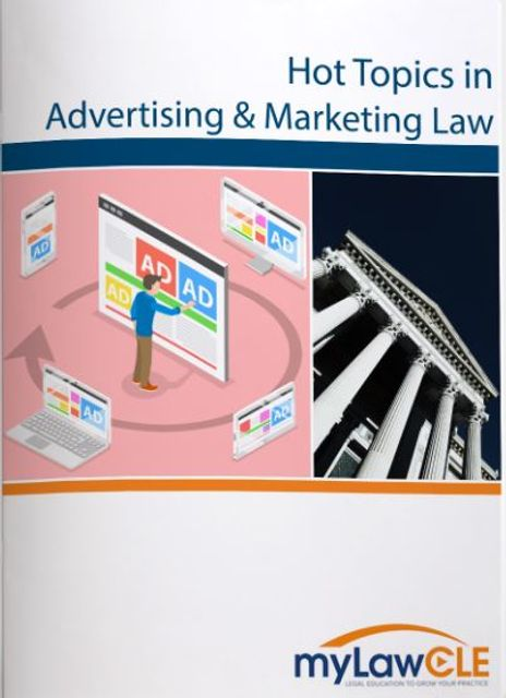"""Hot Topics in Advertising & Marketing Law"" Webinar in November featured image"
